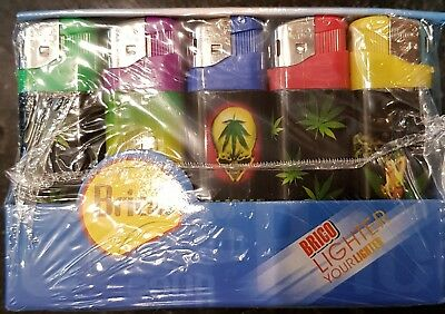 Brand New Brico Electronic Lighters Full Plate Lot Of 50 Lighters Mix Colors
