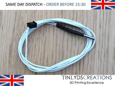 HT-NTC100K Thermistor Temperature Sensor 1m/2m for HighTemperature Filament 350