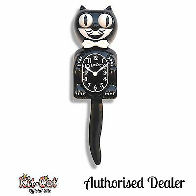 Black Gentleman Kit Cat Clock 30s 40s 50s Rockabilly Vintage Kat Kustom Kulture