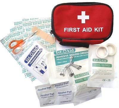 SMALL MINI HANDY SIZE 31pc FIRST 1ST AID KIT ZIPPED BELT POUCH RUNNING CYCLING