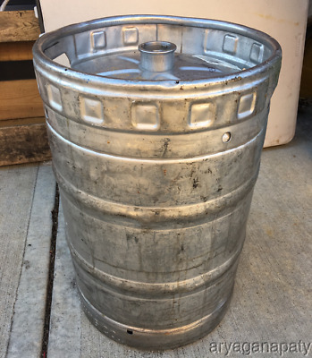 Miller Brewing Company EMPTY BEER KEG Stainless Steel 15.5 GALLON 1/2 Barrel