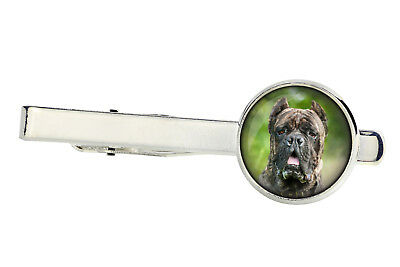 Cane Corso. Tie clip for dog lovers. Photo jewellery. Handmade UK