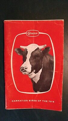 Carnation Farms Genetics 1970 Holstein Dairy Cattle Sire Directory