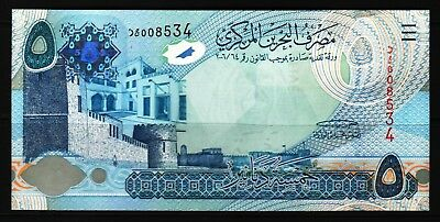 Bahrain - 2006 9ND2008) Central Bank of Bahrain 5 Dinar Replacement/Star* P27* U