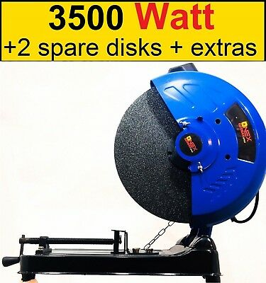 "Chop Saw 3850W 355mm Abrasive Disc Metal Cutting Cut Off Saw - 240V - 14"" blade"