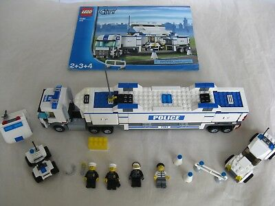 Lego City 7743 Mobile Police Unit W Minifigs Instructionso