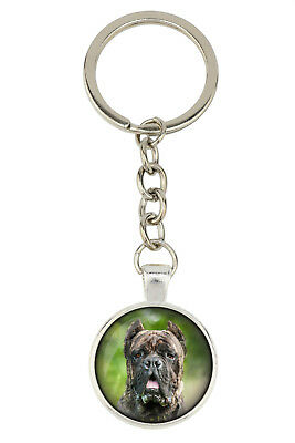 Cane Corso. Keyring for dog lovers. Photo jewellery. Handmade UK