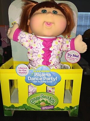 New Cabbage Patch Kids Pajama Dance Party Doll Red Hair I Ship Everyday