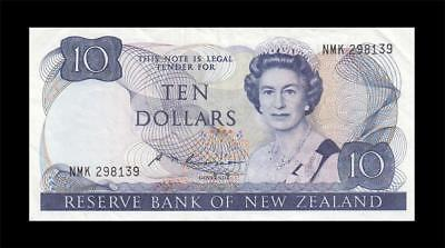 "1985-89 NEW ZEALAND 10 POUNDS ""Sig. Russell"" (( EF ))"