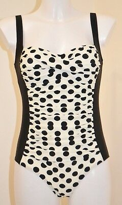 Next New Super Shape Enhancing Black Swimsuit Swimming Costume 653