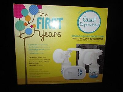 The First Years Quiet Expressions Double Electric Breast Pump New Factory Sealed