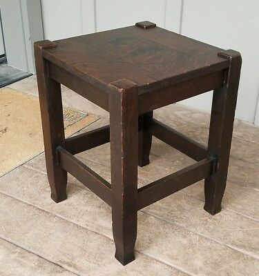 Antique Stickley Brothers Taboret Table Arts U0026 Crafts Mission Oak Mackmurdo  Feet