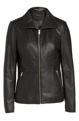 Andrew Marc New York Women's Fabian Feather Leather Jacket (Size: XS)