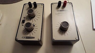 Heathkit IN-37 + IN-47 Resistance and Capacitor Substitution Boxes Very Good Con