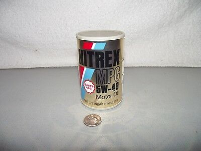 Vintage Small Nitrex Motor Oil Can  AM Radio BP Advertising   Hong Kong