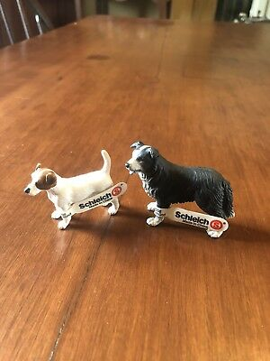 Schleich 2002 Jack Russel Border Collie Dog Retired