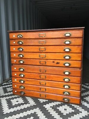 Plan Chest Architects Drawers SMALL