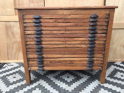 Small Plan Chest Printers letterpress cabinet Collectors  Haberdashery drawers