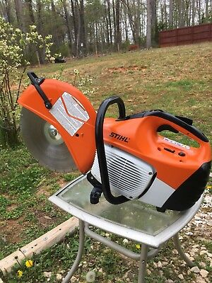 "Stihl Ts420 Gas Concrete Cut-Off Saw W/ New 14"" Diamond Disk"