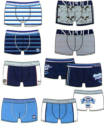 4 Boxer Shorts Child - Naples I Love You. Package a 4. Calcio. from 3 a 7 Ages