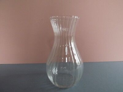 Vintage Ripple Glass Vase