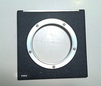 Toyo Metal Lens Board Copal 3 with Threaded Insert