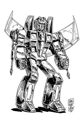 £10! Transformers STARSCREAM convention sketch by Baskerville! Free UK p&p!