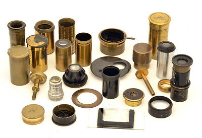 Lot of brass microscope spare pieces