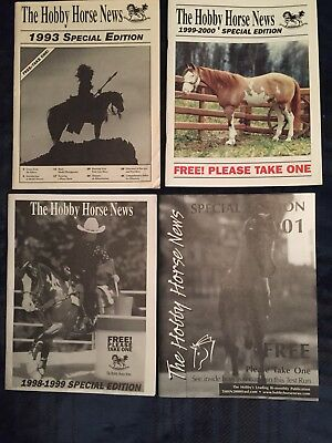 The Hobby Horse News (THHN) Magazine set of 4 Special Edition vintage
