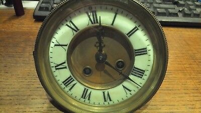 Good French 8 Day  Striking Clock Movement & Dial with pendulum