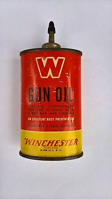 Winchester Gun Oil Can,Earlyvintage oil can,vintage oil tin,gun cleaning