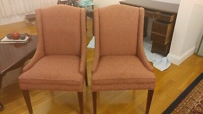 1950s Pair of Side Chairs - Pink Upholstery