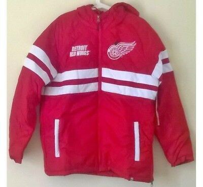 Detroit Red Wings NHL Ice Hockey 47 Warm Fit Quilted Jacket Coat: Men's Medium