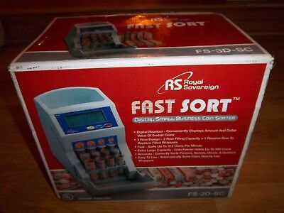 Royal Sovereign FS-3D Coin Sorter Digital Automatic Fast Sorter NEW IN BOX