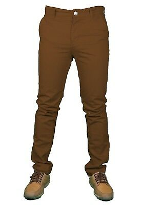 Mens Chino Trousers Slim Fit Premium Rigid Casual Cotton Jeans Designer