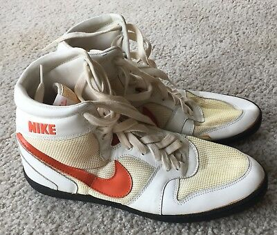 Vintage Nike High Tops Pro White Orange High Tops Taiwan 1987??