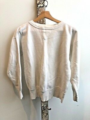 1950s Single V Sweatshirt White Vintage Sportswear Athletic
