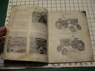 original -- 1948 -- Owners Manual -- FARMALL CUB -- 64 PAGES v dirty cover