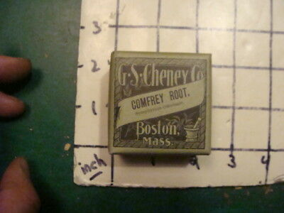 unused old store stock -- G S CHENEY co Boston Ma -- COMFREY ROOT