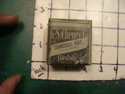 unused old store stock -- G S CHENEY CO  Boston Ma -- CRANESBILL ROOT