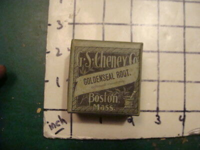 unused old store stock -- G S CHENEY co Boston Ma -- GOLDENSEAL ROOT