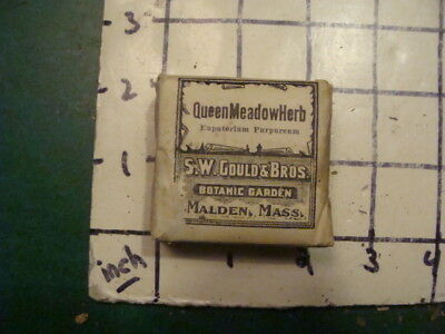 unused old store stock -- S W GOULD & bros -- QUEEN MEADOW HERB