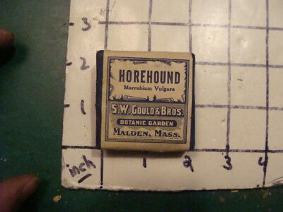 unused old store stock --S W GOULD & bros -- HOREHOUND