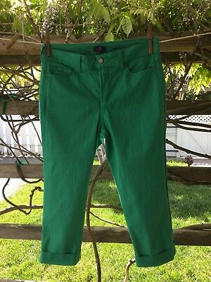 NYDJ Not Your Daughters Jeans Green Size 10 Stretch Crop Lift & Tuck, Worn Once!