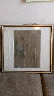 Antique Chinese watercolor painting birds Ming Qing