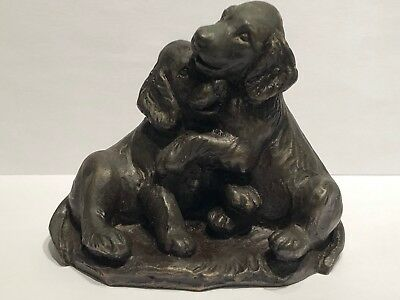 Vintage Heredites Labrador Puppies Cold Cast Bronze M18106