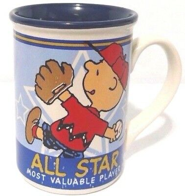Peanuts Coffee Cup Charlie Brown All Star Most Valuable Player Baseball Mug 2011