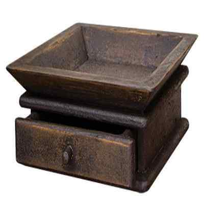New Primitive Colonial Style Rustic Distressed BLACK CANDLE BOX TRAY DRAWER