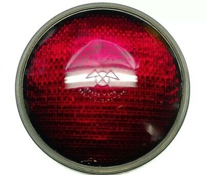 "Vintage 8 3/8""  Kopp Glass Eagle Signal Traffic Stop Go Light Red Lens"