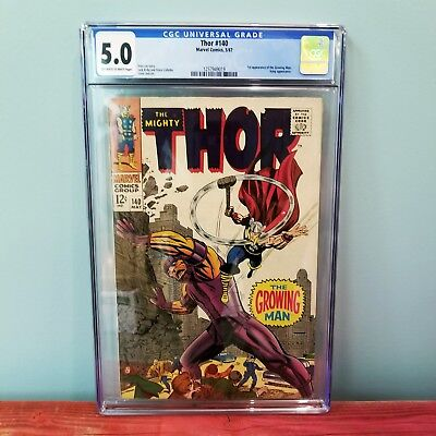 Thor #140 CGC 5.0 🔥 1st Appearance of the Growing Man 🔥 Stan Lee & Jack Kirby